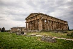 海王星寺庙, Paestum 免版税库存照片