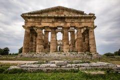 海王星寺庙, Paestum 免版税图库摄影