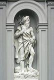 海王星雕塑在卑尔根,挪威 库存图片