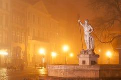 海王星雕塑  库存图片