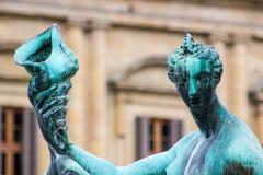 海王星雕象喷泉  免版税图库摄影