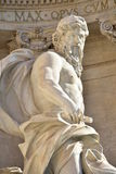 海王星, Trevi喷泉主要雕象在罗马,由Nicola Salvi建筑师 图库摄影