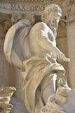 海王星, Trevi喷泉主要雕象在罗马,由Nicola Salvi建筑师 免版税库存图片