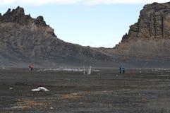 海王星` s窗口捕鲸船` s海湾,南极洲 免版税库存照片