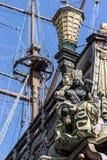 海王星galleon 免版税库存照片
