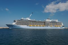 海的专题歌 皇家加勒比国际性组织 库存图片