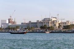 从海的多哈宫殿 库存图片