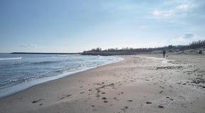 海的宁静在冬天 库存图片