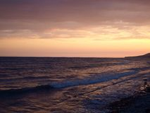 从黑海的日落 库存照片