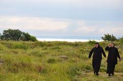 黑海的正统尼姑 库存图片