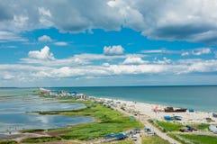 黑海的沿海小条 免版税库存照片
