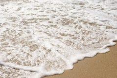 黑海的泡沫和波浪 库存图片