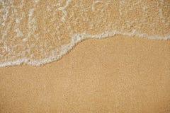 海的波浪沙子海滩的,酸值Tachai海岛泰国 库存照片