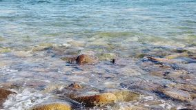 海的海岸线的慢动作 影视素材