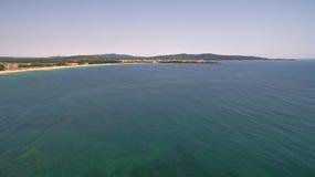 黑海的海岸线的美丽的景色从上面 免版税库存图片