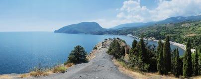 黑海的海岸 免版税库存照片