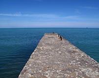 海的看法从所有角度是美好 免版税库存照片
