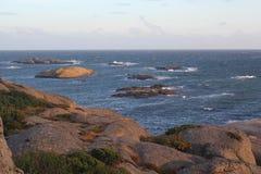 海的看法在挪威 图库摄影