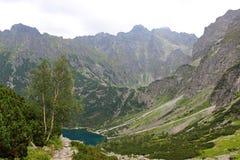 海的眼睛, Tatra山,波兰 库存照片