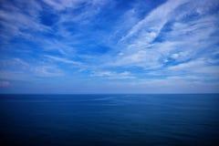 海的美好的视域 库存图片