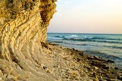黑海的陡峭的岸 免版税库存图片