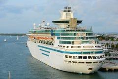 海的雄伟在基韦斯特岛,佛罗里达 免版税库存照片