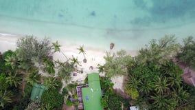 海的顶视图在Phangan海岛上的在泰国 库存图片
