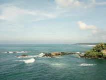 海的风景看法反对天空的 图库摄影