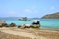 海的风景酸值西康省或西康省海岛的 免版税库存照片