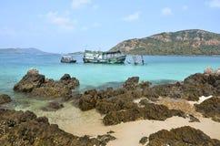 海的风景酸值西康省或西康省海岛的 免版税库存图片