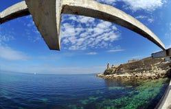 黑海的风景 图库摄影