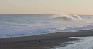 海的风雨如磐的波浪 影视素材