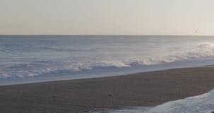 海的风雨如磐的波浪 股票视频
