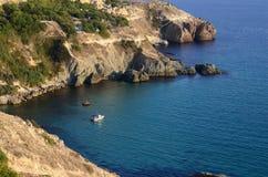 黑海的晴朗的看法 克里米亚 库存图片