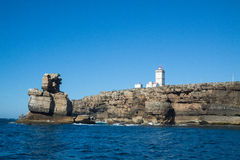 从海的Peniche 图库摄影