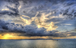 从海的Singapure 库存图片