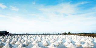 海盐农场和谷仓在泰国 ( t i 碘来源 库存图片
