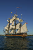 海盗下风帆船 免版税图库摄影