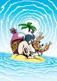 海盗兰姆酒海岛 免版税库存图片