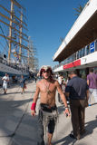 海盗化装舞会服装服装 库存图片