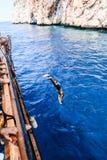 海盗和潜水者水蟒 库存图片