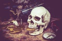 海盗和珍宝 库存照片