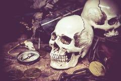 海盗和珍宝 免版税库存照片