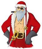 海盗圣诞老人 免版税图库摄影
