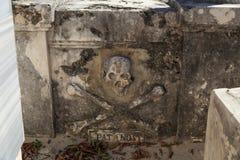 海盗墓碑 免版税库存照片
