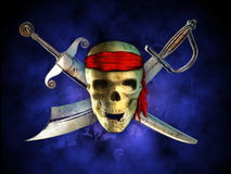 海盗头骨 皇族释放例证