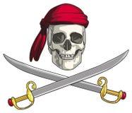 海盗头骨 库存图片