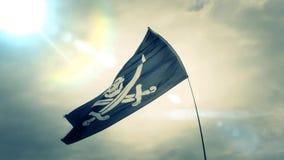 海盗旗旗子慢动作 影视素材