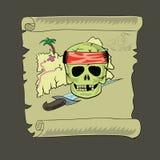 海盗映射 库存照片