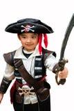 海盗服装的孩子 库存图片
